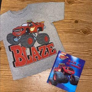 Nickelodeon Blaze Gray  Graphic Shirt Size 4